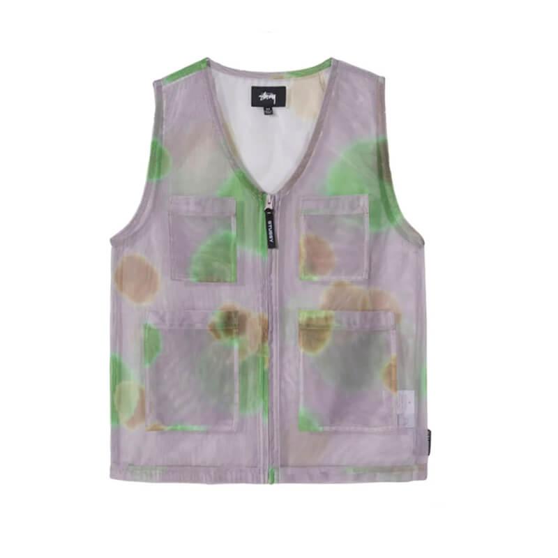 STÜSSY Chaleco Mesh Layer Vest - Grey