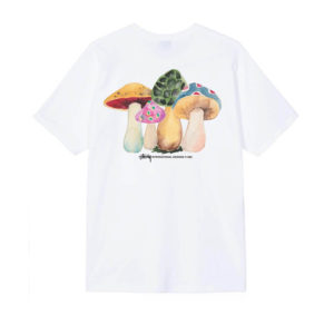 STÜSSY Camiseta Shrooms - White