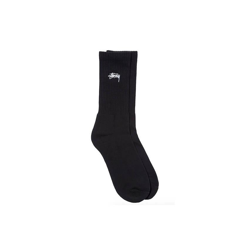 STÜSSY Small Stock Crew Socks - Black