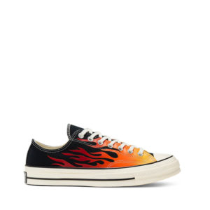CONVERSE Chuck Taylor 70 OX Sneakers  – Black / Enamel Red/ Egret