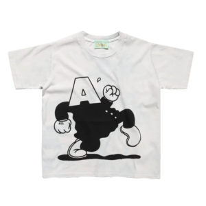 ARIES Camiseta Shrunken Cartoon - White