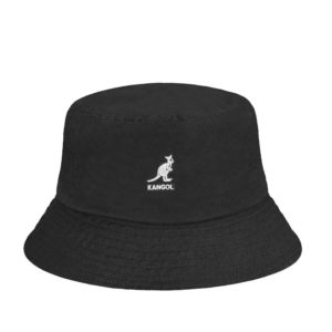 KANGOL Washed Bucket Hat - Black