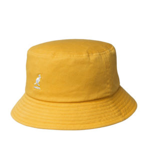 KANGOL Washed Bucket Hat - Marigold
