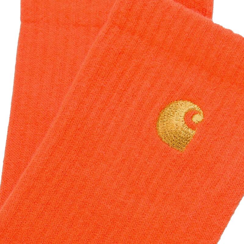 CARHARTT WIP Chase Socks - Safety Orange / Gold