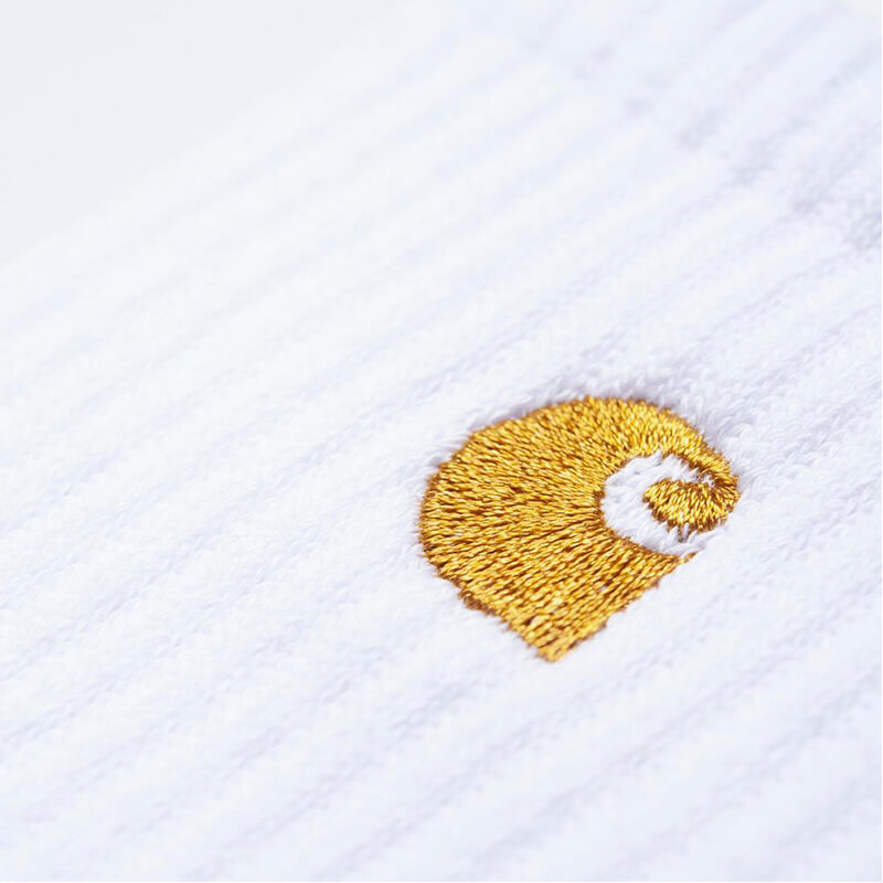 CARHARTT WIP Calcetines Chase - White / Gold