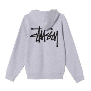 STÜSSY Basic Stüssy Hood - Ash Heather