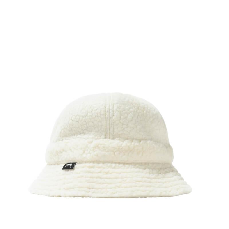 STUSSY Sherpa Fleece Bucket Hat – Natural