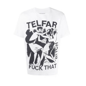 TELFAR Fuck That Bitch Tee - Off White