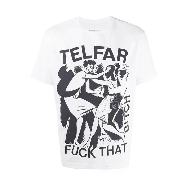 TELFAR Fuck That Bitch Tee - Off White