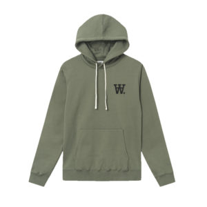 WOOD WOOD Hoodie Double-A Ian - Army Green