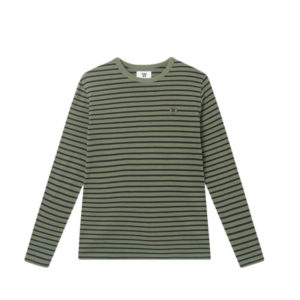 WOOD WOOD Camiseta LS Mel - Army / Black Stripes
