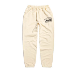 ARIES ARISE Logo Premium Sweat Pants – Alabaster