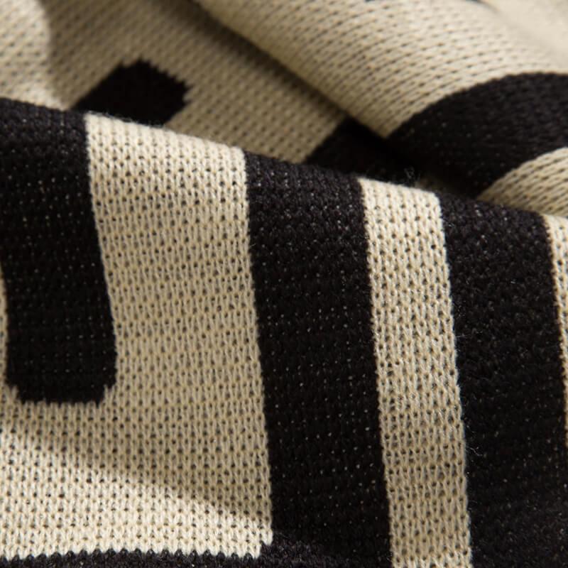 ARIES ARISE Meandros Football Scarf – Black / White