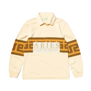 ARIES ARISE Meandros Rugby Shirt – Beige