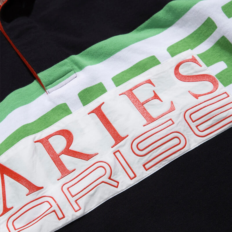 ARIES ARISE Meandros Rugby Shirt – Black
