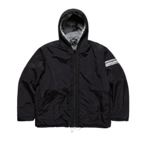 ARIES ARISE Parka Reversible Furry Monogram - Black