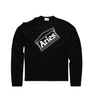 ARIES ARISE Shoulder Hole Super LS Tee – Black