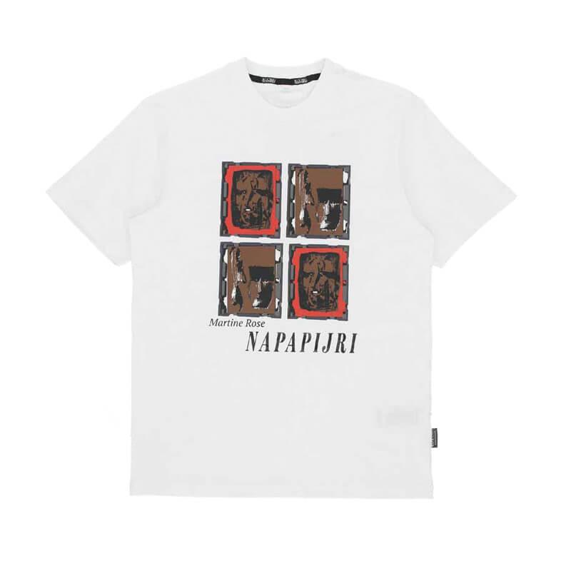 NAPAPIJRI by MARTINE ROSE S-Koli SS Tee – White