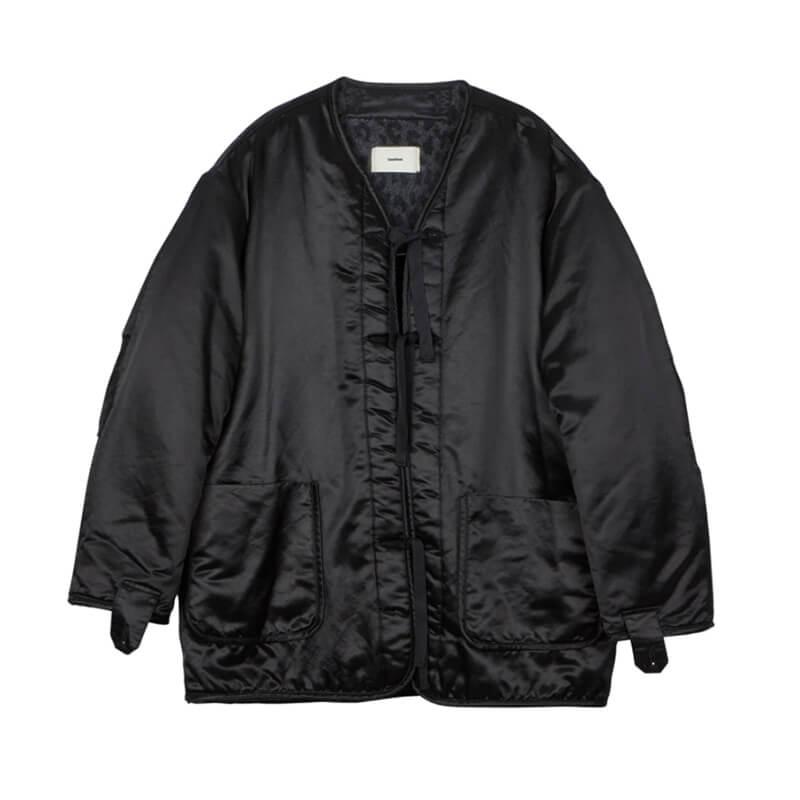 STAND ALONE Leopard Teddy Liner Jacket – Black