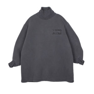 STAND ALONE High Neck Sweatshirt – Dark Grey