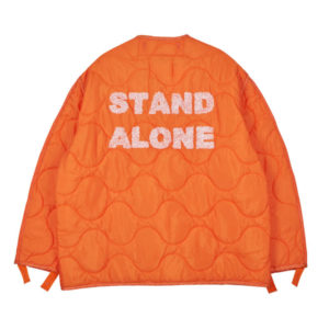 STAND ALONE Logo Liner Jacket – Orange