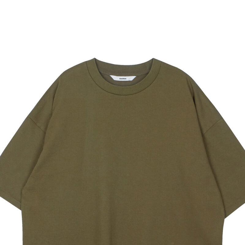 STAND ALONE Oversized Logo T-shirt – Khaki
