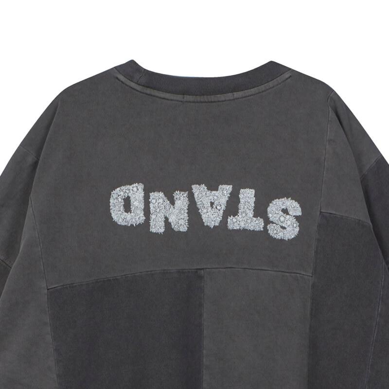 STAND ALONE Oversized Panel T-shirt – Dark Grey