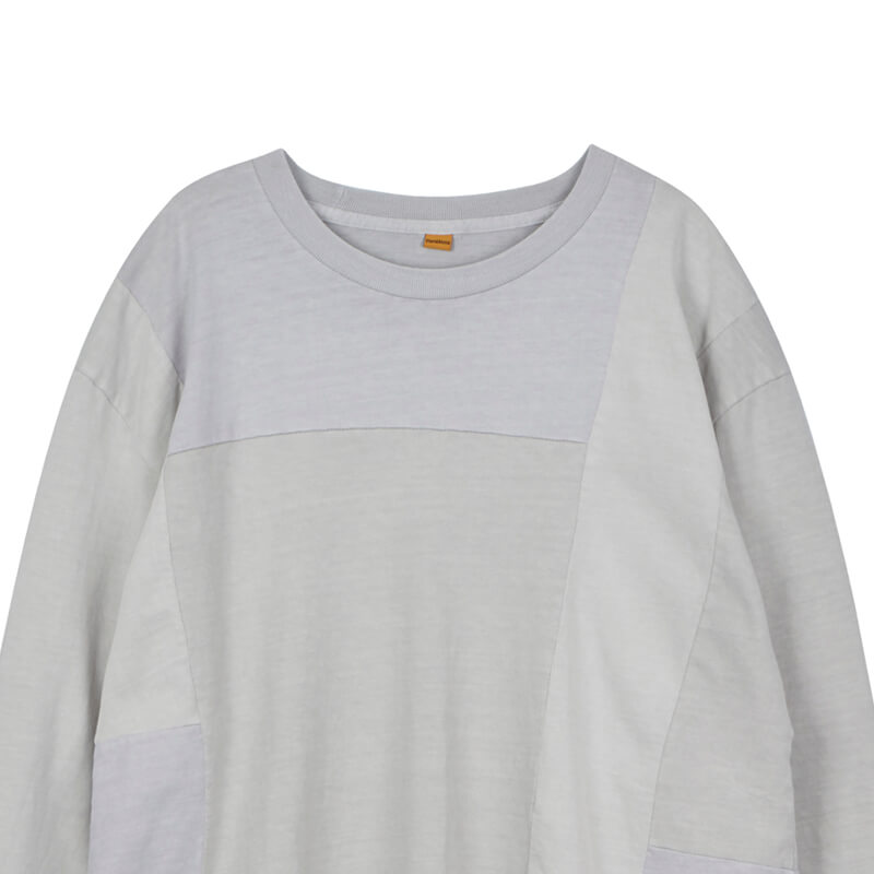 STAND ALONE Pigment Dye Blocking LS Tee - Light Grey