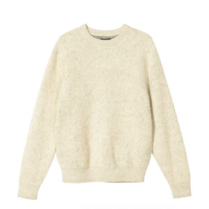 STÜSSY Jersey Mohair 8 Ball Heavy Brushed - Cream