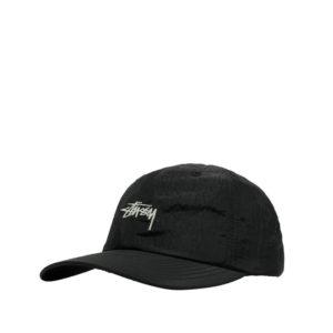 STUSSY Stock Metallic Low Pro Cap – Black