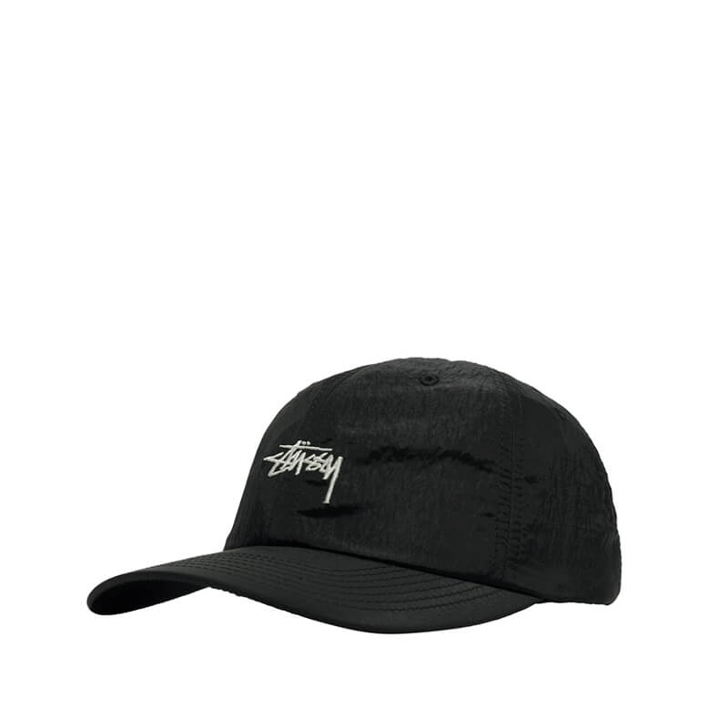STUSSY Stock Metallic Low Pro Cap – Black