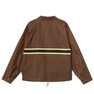 STÜSSY Stripe Zip Jacket - Brown