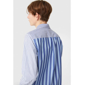 WOOD WOOD Camisa Timothy - White Stripes