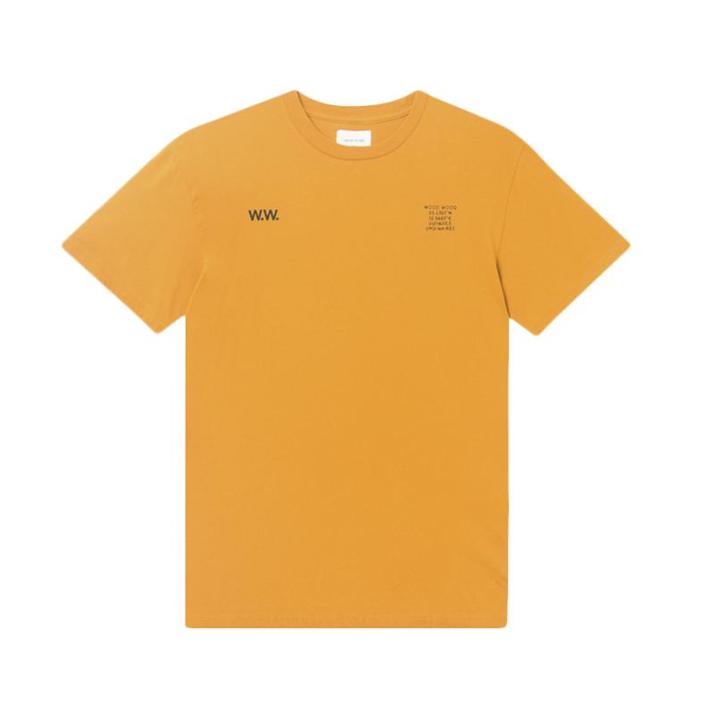 WOOD WOOD Voyages T-shirt – Orange