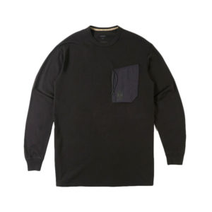 MAHARISHI Tech Pocket LS T-shirt – Black