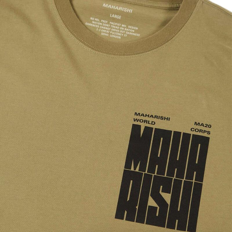 MAHARISHI World Corps T-shirt – Maha Olive