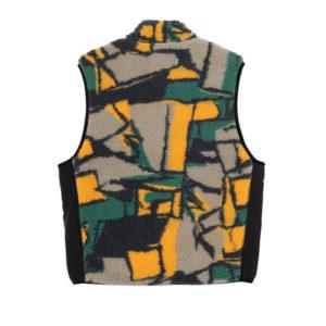 STUSSY Block Sherpa Vest - Multi