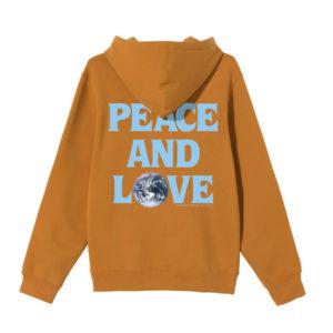 STÜSSY Peace & Love Hood - Caramel
