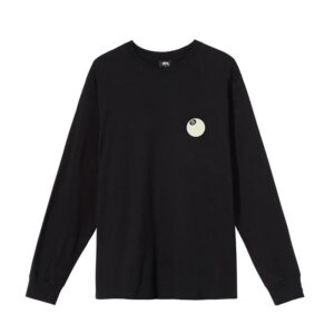 STUSSY Camiseta LS 8 Ball Corp - Black