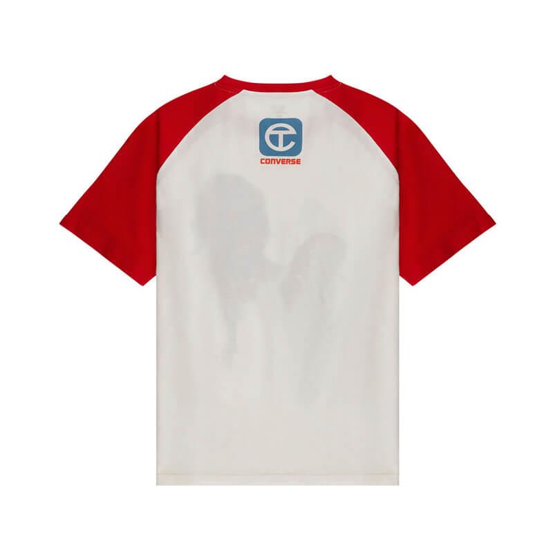 TELFAR x CONVERSE Camiseta Raglan - White / Red