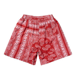 ARIES Shorts Bandana Print Board - Red