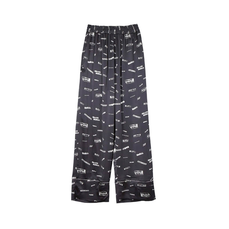 STAND ALONE Pattern Pyjama Pants - Dark Grey