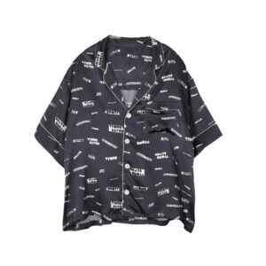 STAND ALONE Camisa Pattern Pyjama - Dark Grey