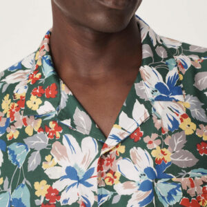 YMC Malick Cotton Silk Shirt – Floral Print