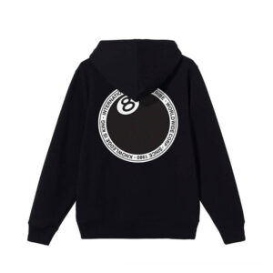 STUSSY 8 Ball Dot Hood – Black