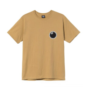 STUSSY Camiseta 8 Ball Dot - Khaki