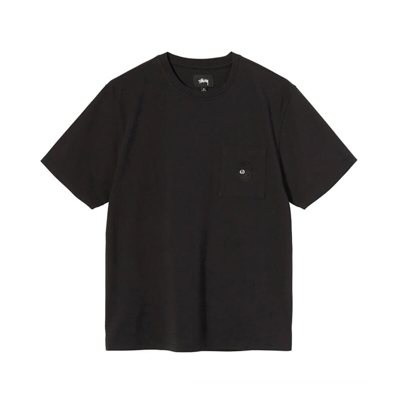 STUSSY Camiseta 8 Ball Pocket - Black