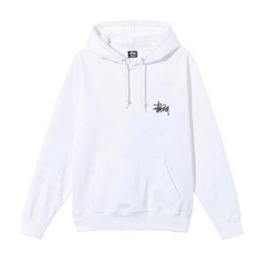 STUSSY Basic Stüssy Hood – White