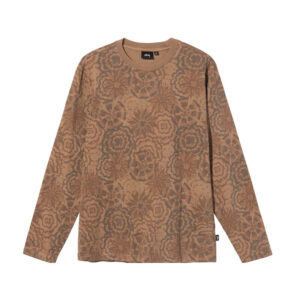 STUSSY Camiseta LS Flower - Brown