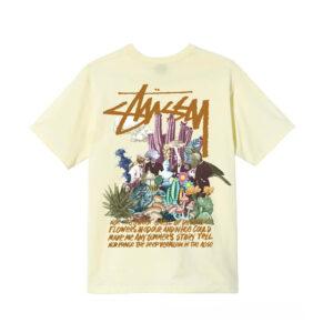 STUSSY Camiseta Psychedelic - Pale Yellow